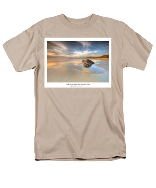 Men's T-Shirt  (Regular Fit) featuring the photograph  Dusk On The Beach by Beverly Cash