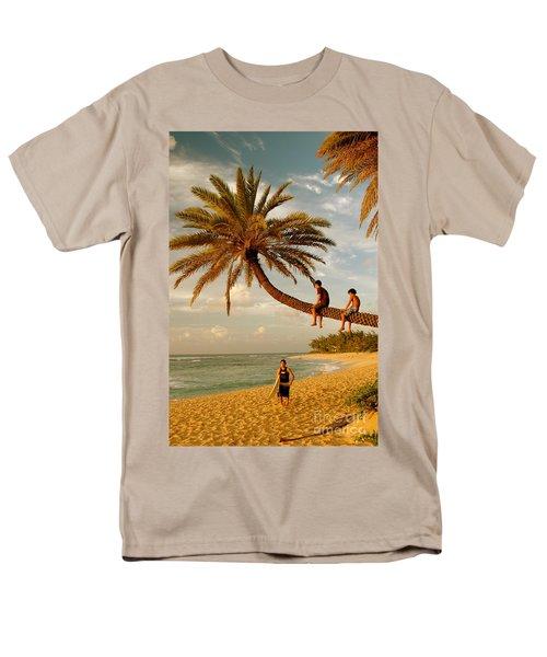Sunset Beach Oahu Men's T-Shirt  (Regular Fit) by Mark Gilman