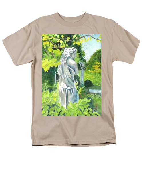 Men's T-Shirt  (Regular Fit) featuring the painting A Statue At The Wellers Carriage House -3 by Yoshiko Mishina