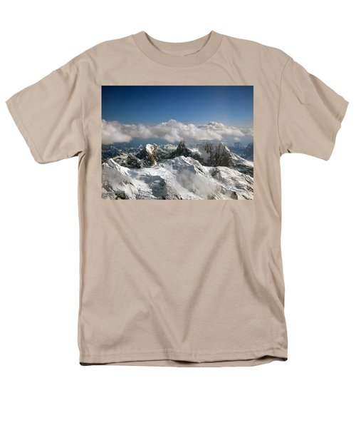 Above Mckinley Men's T-Shirt  (Regular Fit) by Kay Lovingood