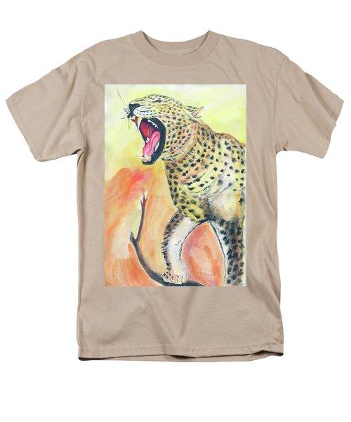 African Leopard Men's T-Shirt  (Regular Fit) by Emmanuel Baliyanga