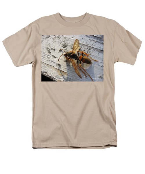 Apache Red Wasp Men's T-Shirt  (Regular Fit) by Mark Robbins