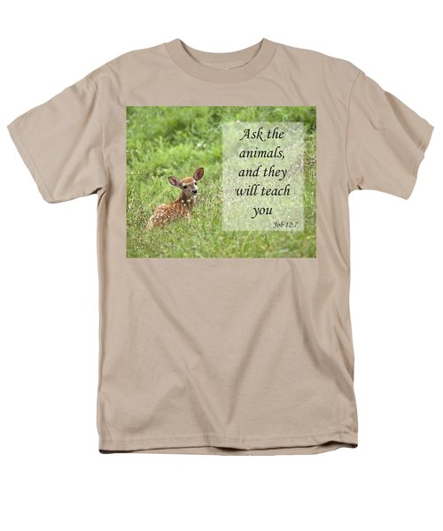 Men's T-Shirt  (Regular Fit) featuring the photograph Ask The Animals by Jeannette Hunt