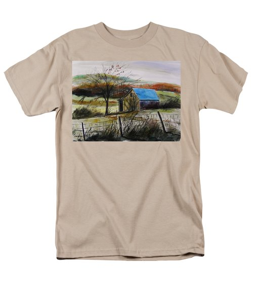 Men's T-Shirt  (Regular Fit) featuring the painting Autumn Light By John Williams by John Williams