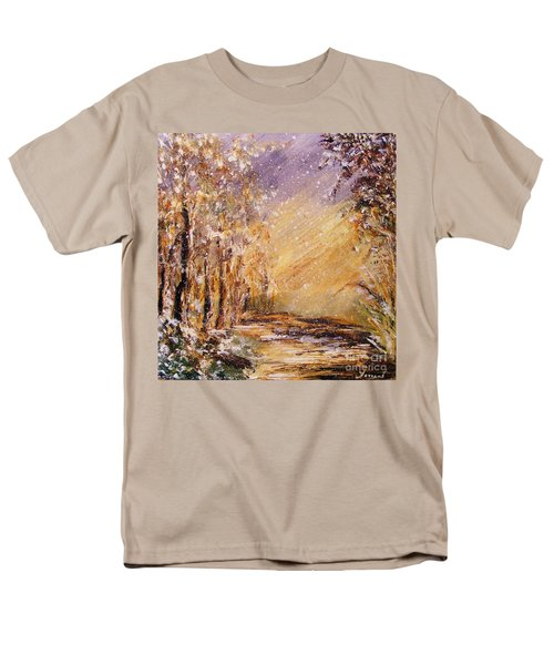 Autumn Snow Men's T-Shirt  (Regular Fit) by Karen  Ferrand Carroll