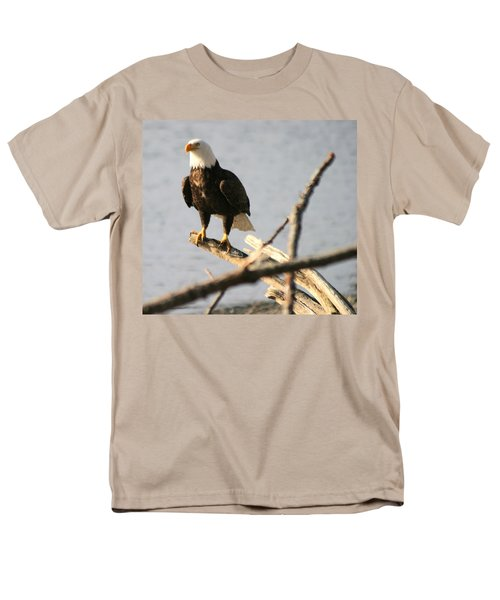 Men's T-Shirt  (Regular Fit) featuring the photograph Bald Eagle On Driftwood by Kym Backland