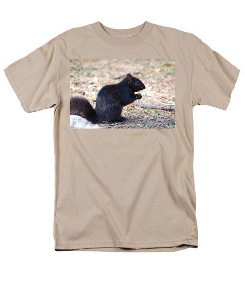 Black Squirrel Of Central Park Men's T-Shirt  (Regular Fit) by Sarah McKoy