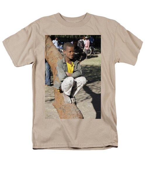 Boy In Zen Thought Men's T-Shirt  (Regular Fit) by Robert SORENSEN