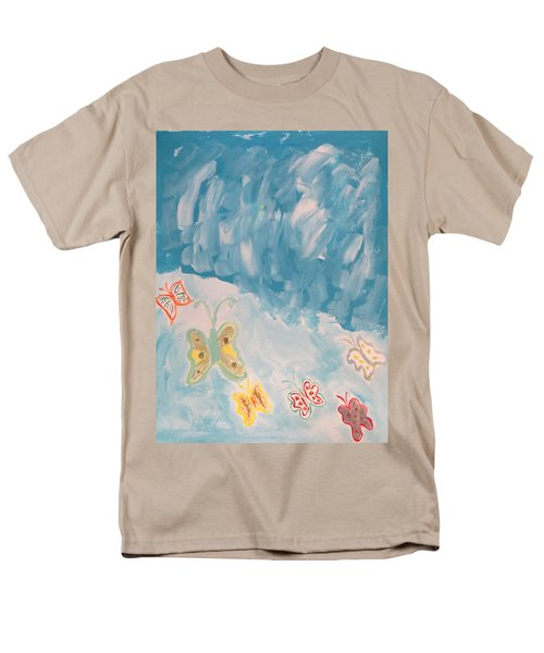 Men's T-Shirt  (Regular Fit) featuring the painting Butterfly Flight by Sonali Gangane
