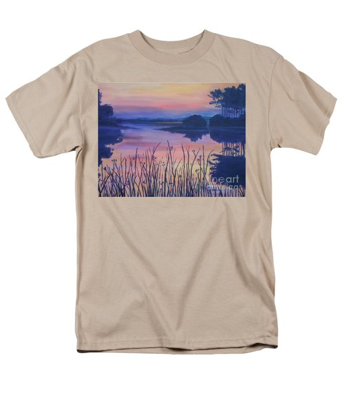 Men's T-Shirt  (Regular Fit) featuring the painting Chincoteaque Island Sunset by Julie Brugh Riffey