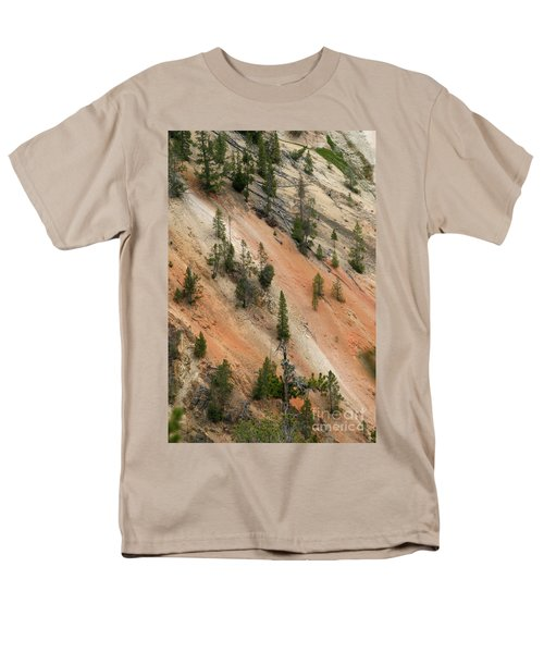 Men's T-Shirt  (Regular Fit) featuring the photograph Cliff Side Grand Canyon Colors Vertical by Living Color Photography Lorraine Lynch