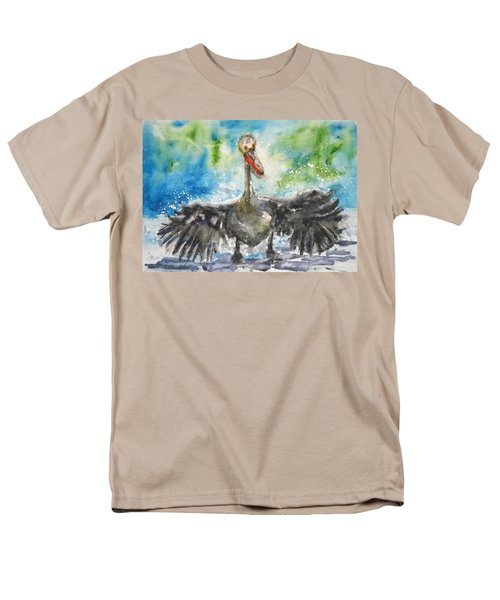 Men's T-Shirt  (Regular Fit) featuring the painting Cooling Off by Anna Ruzsan