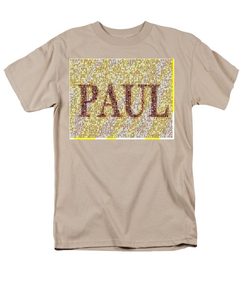 Custom Paul Mosaic Taylor Swift Men's T-Shirt  (Regular Fit) by Paul Van Scott