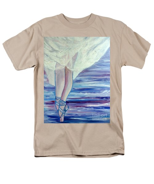 Men's T-Shirt  (Regular Fit) featuring the painting En Pointe by Julie Brugh Riffey