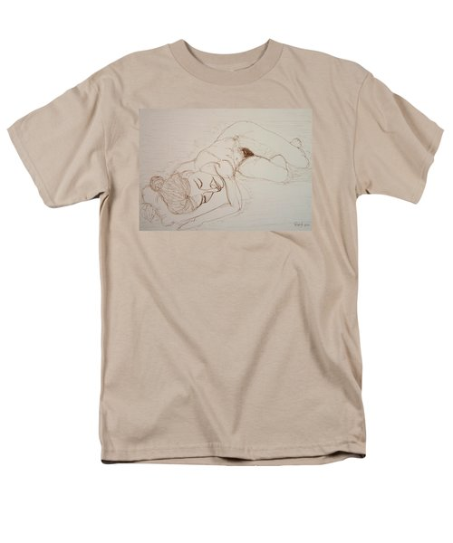 Female Nude Lying Men's T-Shirt  (Regular Fit) by Rand Swift