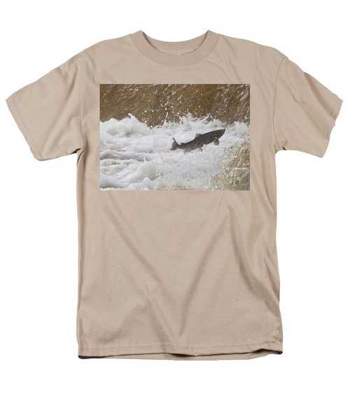 Fish Jumping Upstream In The Water Men's T-Shirt  (Regular Fit) by John Short