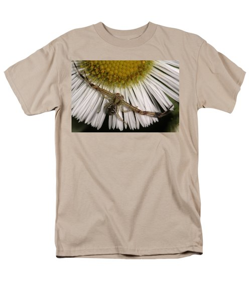 Men's T-Shirt  (Regular Fit) featuring the photograph Flower Spider On Fleabane by Daniel Reed