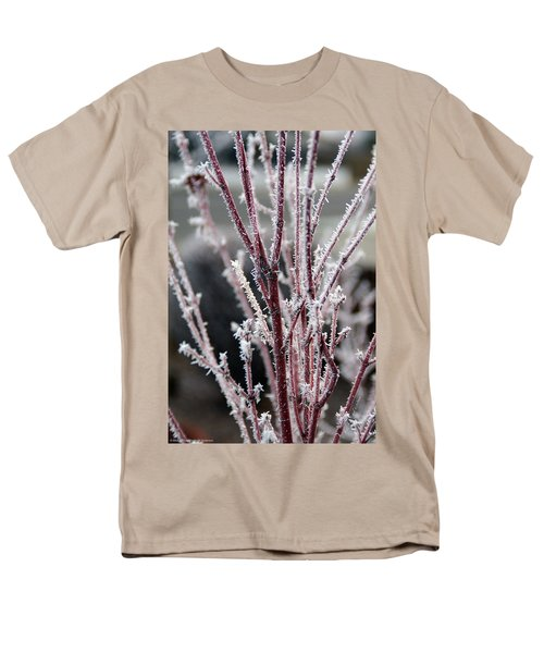Men's T-Shirt  (Regular Fit) featuring the photograph Frosty Coral Maple by Mick Anderson