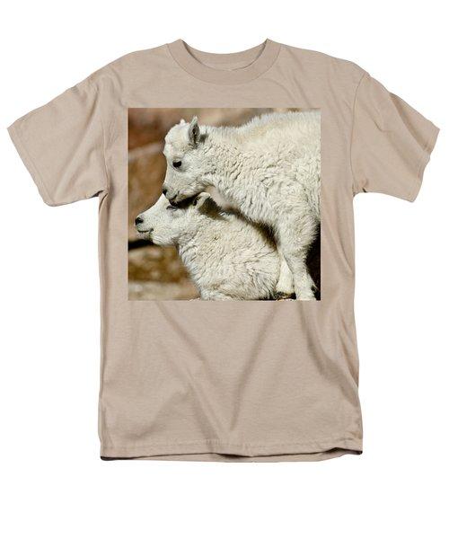 Goat Babies Men's T-Shirt  (Regular Fit) by Colleen Coccia