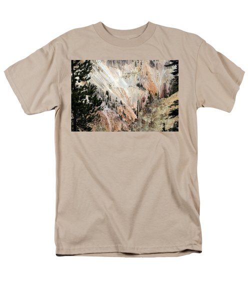 Men's T-Shirt  (Regular Fit) featuring the photograph Grand Canyon Colors Of Yellowstone by Living Color Photography Lorraine Lynch