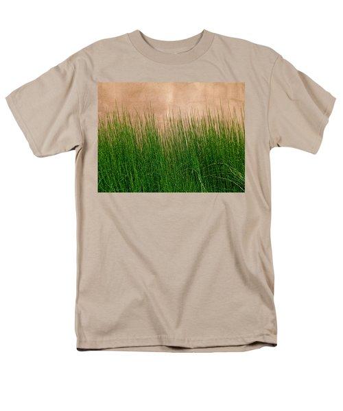 Men's T-Shirt  (Regular Fit) featuring the photograph Grass And Stucco by David Pantuso