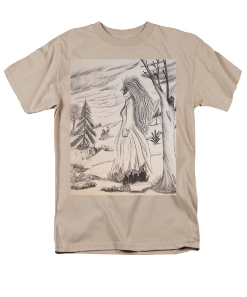 Halloween Witch Walk Men's T-Shirt  (Regular Fit) by Maria Urso