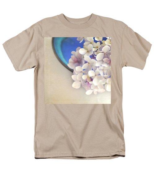 Hydrangeas In Blue Bowl Men's T-Shirt  (Regular Fit) by Lyn Randle