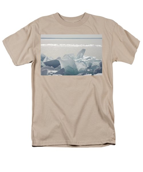 Ice Chunks On The Shores Of Lake Men's T-Shirt  (Regular Fit) by Susan Dykstra