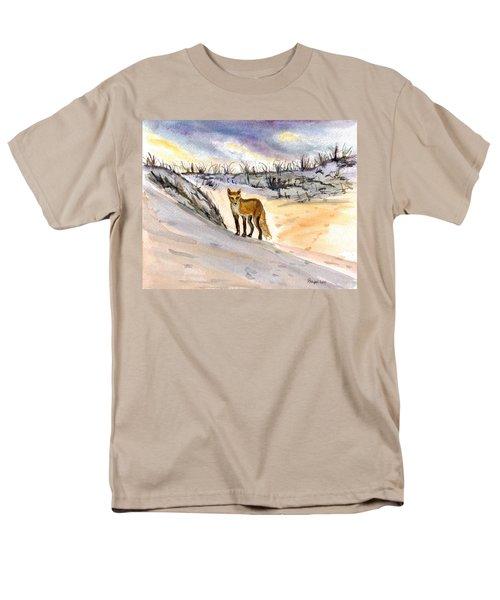 Men's T-Shirt  (Regular Fit) featuring the painting Jersey Shore Fox by Clara Sue Beym