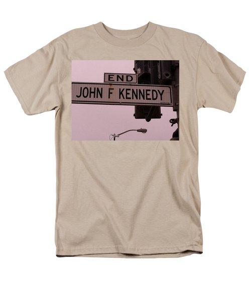 Men's T-Shirt  (Regular Fit) featuring the photograph Jfk Street by Bill Owen