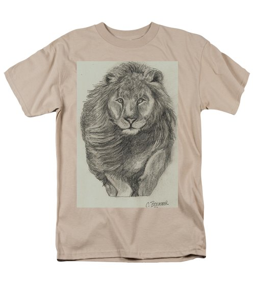 Men's T-Shirt  (Regular Fit) featuring the drawing Lion by Christy Saunders Church