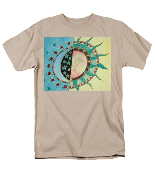 Men's T-Shirt  (Regular Fit) featuring the painting Love You Day And Night by Anna Ruzsan
