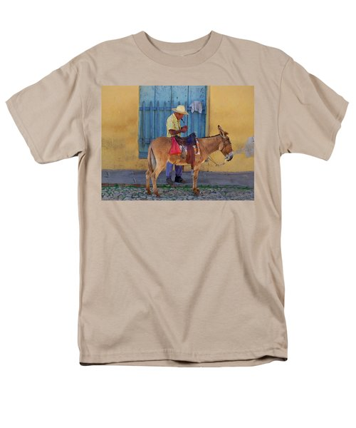 Man And A Donkey Men's T-Shirt  (Regular Fit)