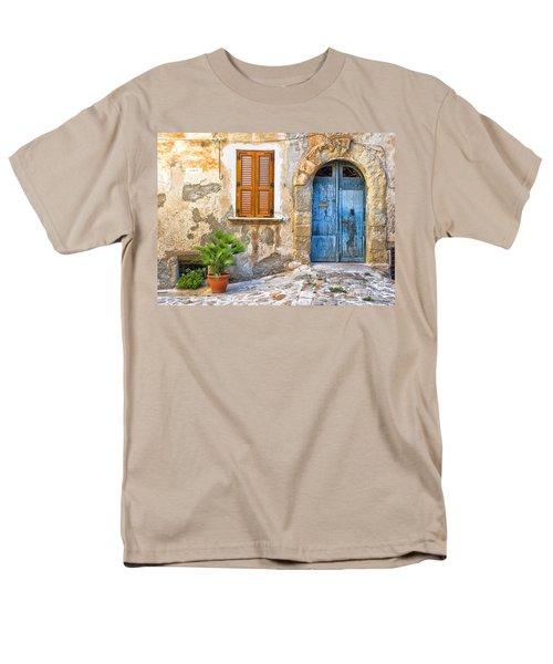 Mediterranean Door Window And Vase Men's T-Shirt  (Regular Fit) by Silvia Ganora