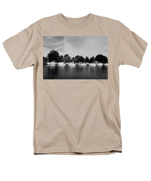Men's T-Shirt  (Regular Fit) featuring the photograph Mooring Line by Maj Seda