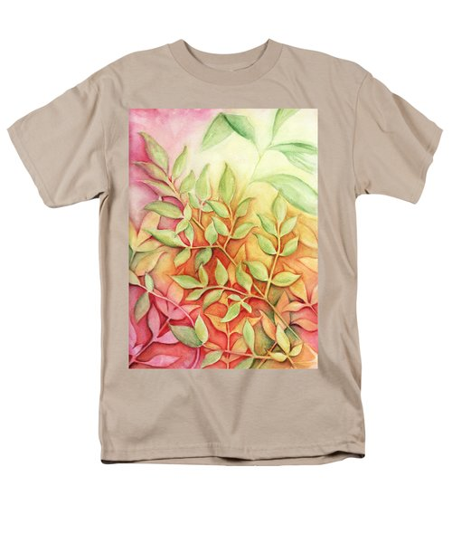 Men's T-Shirt  (Regular Fit) featuring the painting Nandina Leaves by Carla Parris