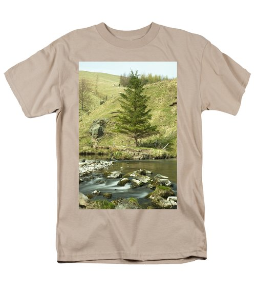 Men's T-Shirt  (Regular Fit) featuring the photograph Northumberland, England A River Flowing by John Short