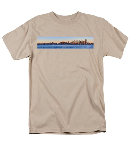 Northwest Jewel - Seattle Skyline Cityscape Men's T-Shirt  (Regular Fit)