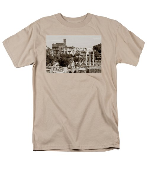 Men's T-Shirt  (Regular Fit) featuring the photograph Panoramic View Via Sacra Rome by Tom Wurl