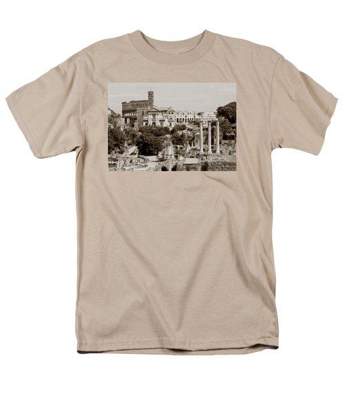 Panoramic View Via Sacra Rome Men's T-Shirt  (Regular Fit) by Tom Wurl