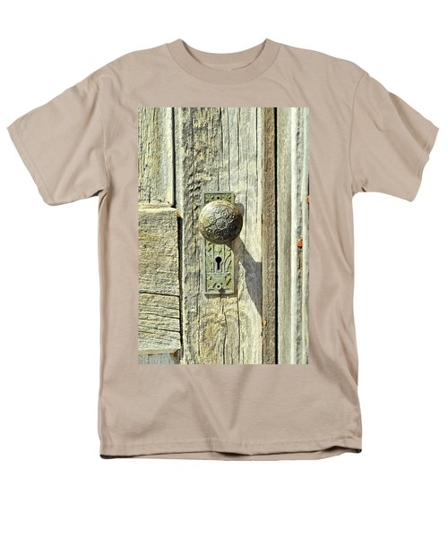 Men's T-Shirt  (Regular Fit) featuring the photograph Patina Knob by Fran Riley