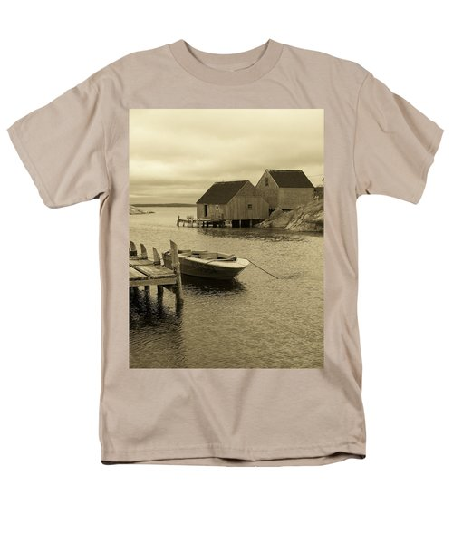 Peggys Cove In Sepia Men's T-Shirt  (Regular Fit) by Richard Bryce and Family