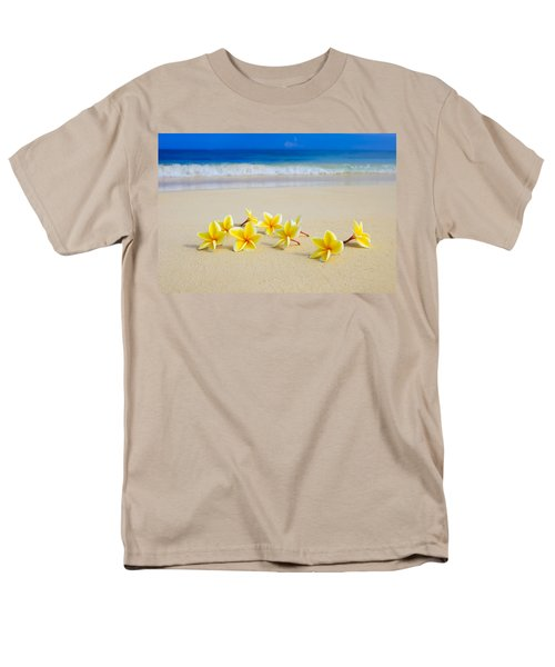 Plumerias On Beach II Men's T-Shirt  (Regular Fit) by Tomas del Amo