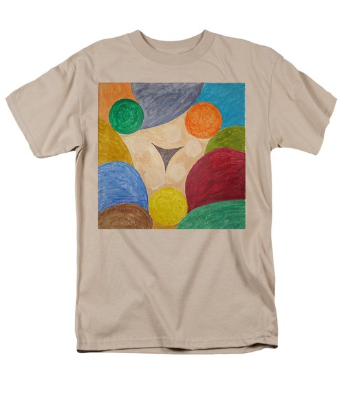 Men's T-Shirt  (Regular Fit) featuring the painting Power Of Colors by Sonali Gangane