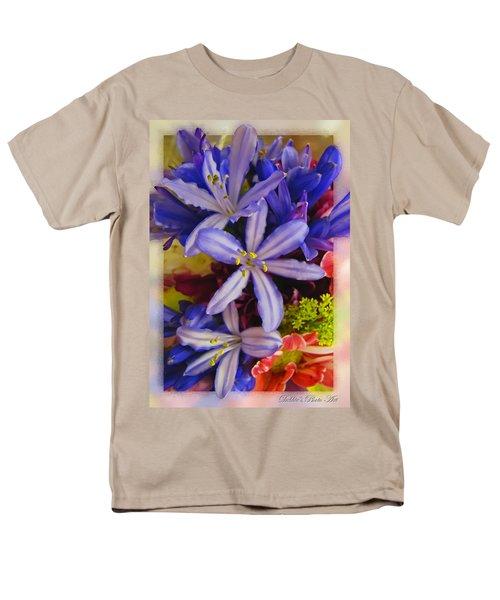 Men's T-Shirt  (Regular Fit) featuring the photograph Purple Stars by Debbie Portwood