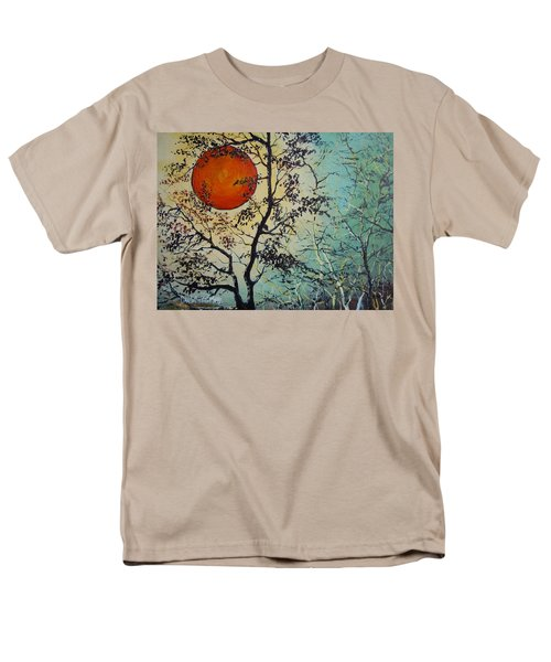 Red Sun A Red Moon Men's T-Shirt  (Regular Fit) by Dan Whittemore