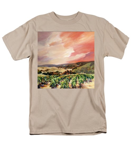Men's T-Shirt  (Regular Fit) featuring the painting Rolling Vineyards 2 by Rae Andrews