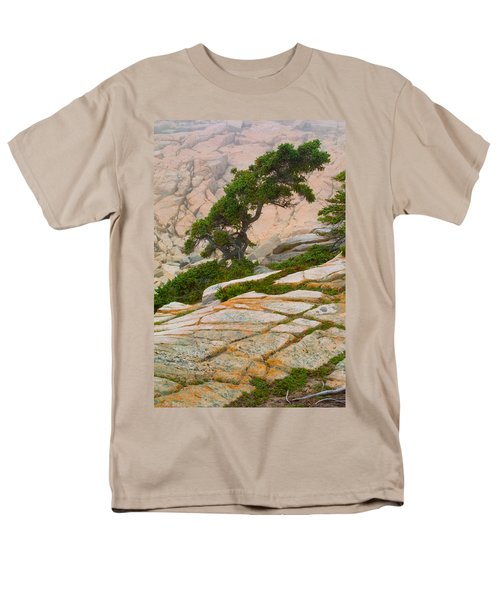 Men's T-Shirt  (Regular Fit) featuring the photograph Schoodic Cliffs by Brent L Ander