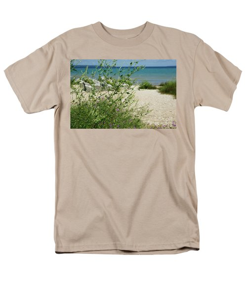 Men's T-Shirt  (Regular Fit) featuring the photograph Shades Of Blue by Linda Shafer