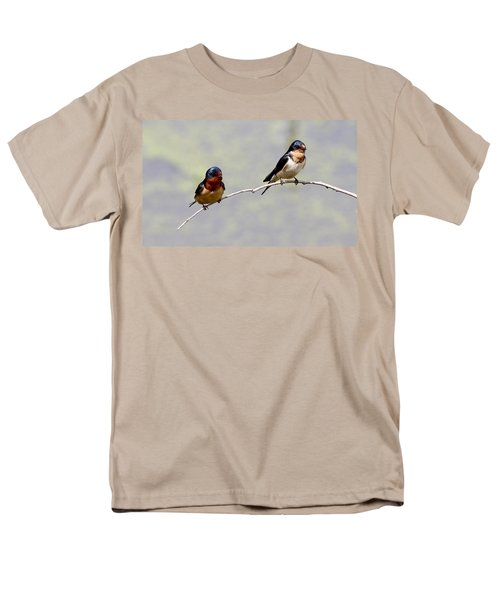 Men's T-Shirt  (Regular Fit) featuring the photograph Sharing A Branch by Elizabeth Winter
